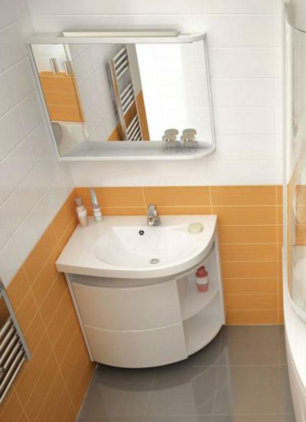 Eckwaschbecken mit unterschrank f rs badezimmer for Blaue bodenfliesen bad