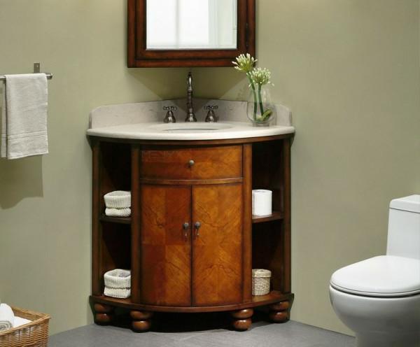 eckwaschtisch-im-badezimmer-mit-unterschränken-aus-Holz