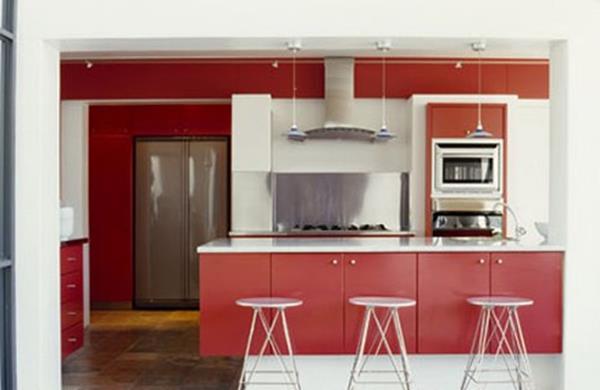 einrichtungsideen-für-kleine-küche-rot