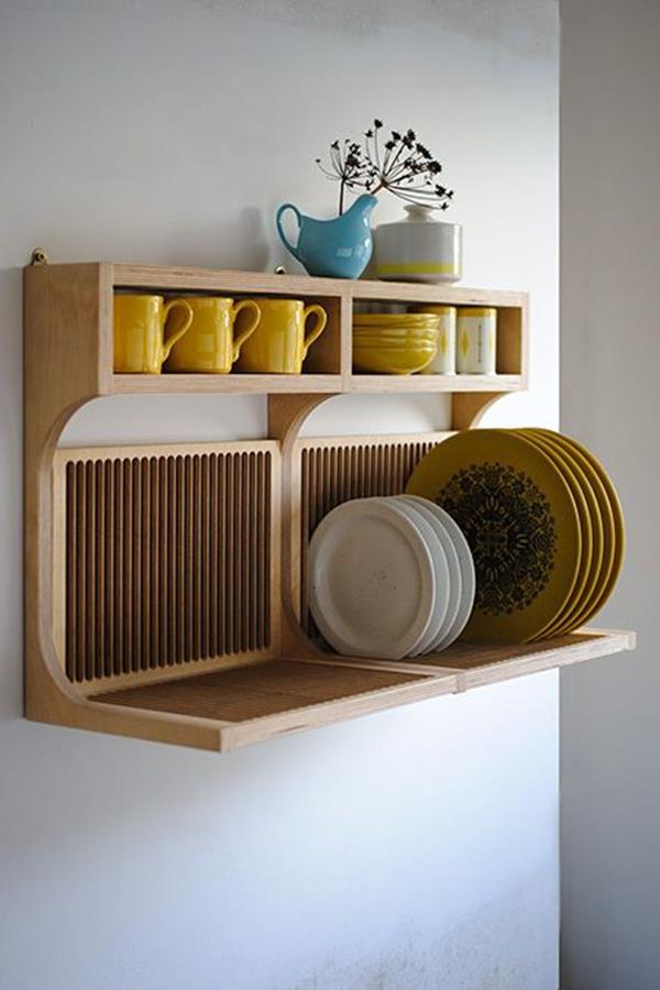 einrichtungsideen-kleine-küche-aufbewahrung-holz