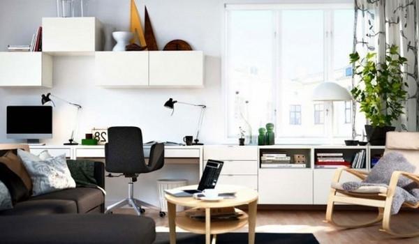 einrichtungstipps-fürs- wohnzimmer-elegante-ikea-gestaltung - weiße schränke