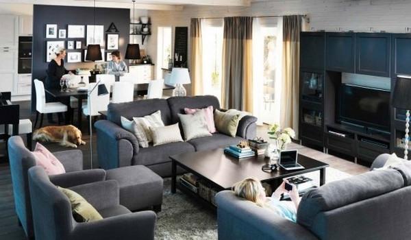 wohnzimmer ideen ikea grau | sciamfot, Moderne deko