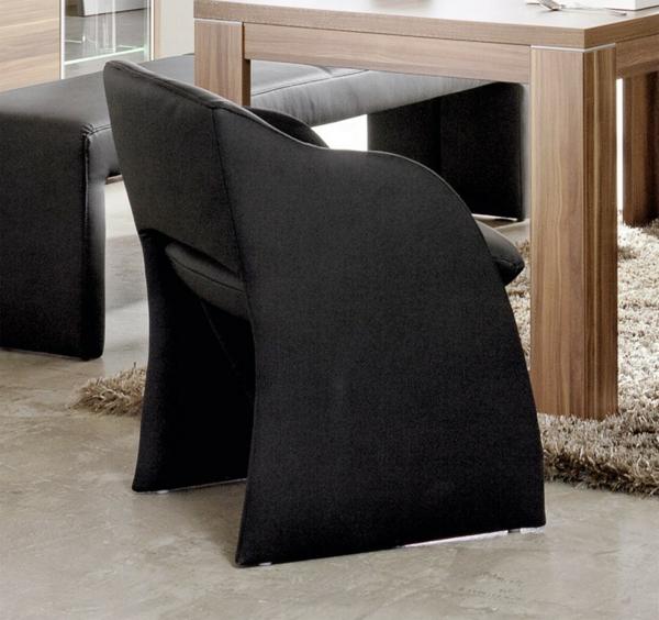 Esszimmersessel haus design m bel ideen und for Lederstuhl schwarz esszimmer