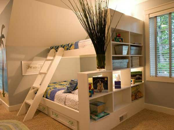 Kinderhochbett für zwei  Hochbett mit Treppe - tolle Vorschläge - Archzine.net