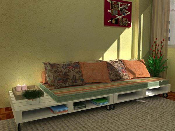 Möbel aus europaletten sofa  Sofa aus Paletten - 42 wunderschöne Bilder! - Archzine.net