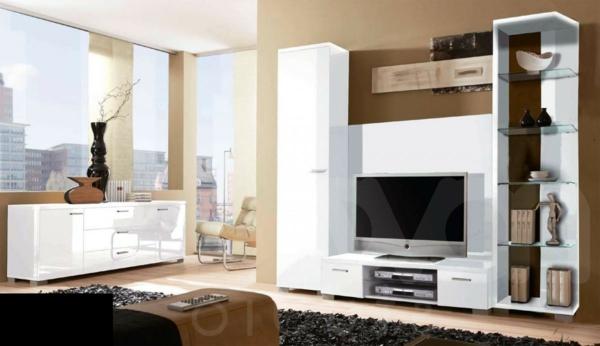 exklusive-tv-möbel-kreative-wohnzimmer-gestaltung mit gläsernen wänden
