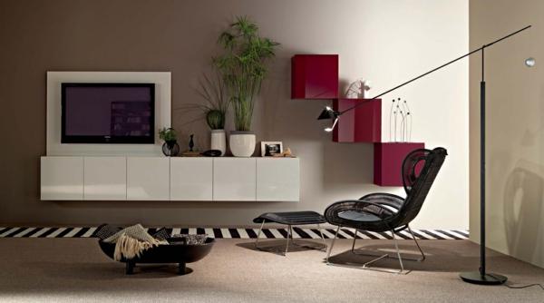 exklusive-tv-möbel-luxus-und-klasse - dekorative pflanze