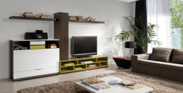 exklusive-tv-möbel-modern-und-schön- mit einem weichen teppich