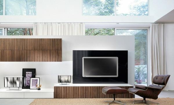 exklusive-tv-möbel-moderne-gestaltung-wohnzimmer mit weißen wänden
