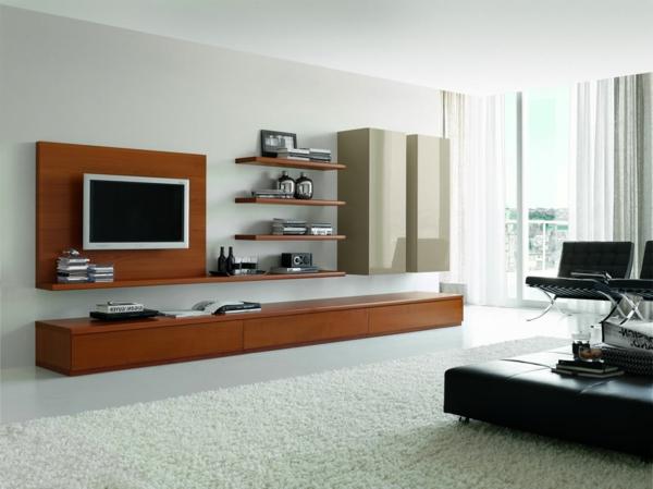 exklusive-tv-möbel-modernes-interieur-design- weißer teppich