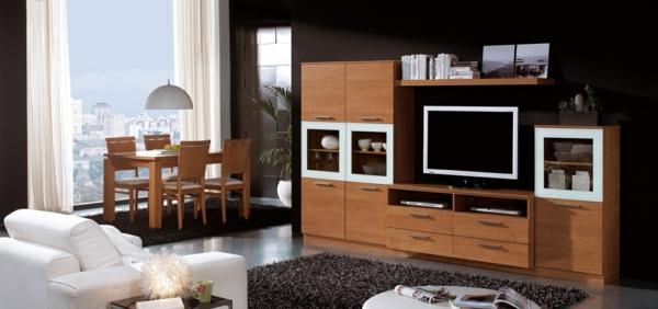 exklusive-tv-möbel-wohnzimmer-gestalten- esszimmer und wohnzimmer vereinbaren