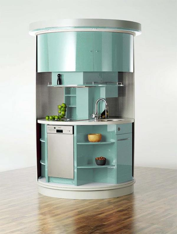 Kleine Küche einrichten - neue Beispiele! - Archzine.net | {Miniküche einrichten 14}