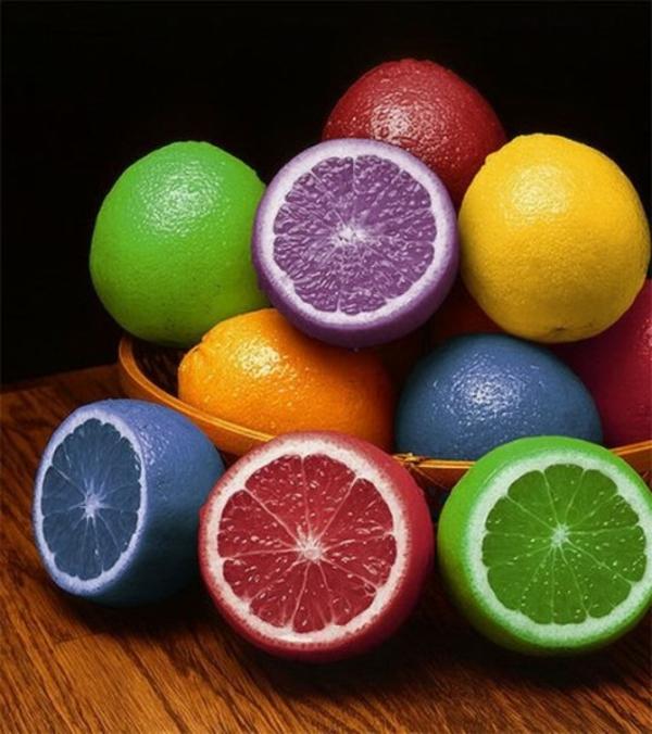 farbige-Zitronen-Künstliches-Obst-schön-gestalten-Dekoidee