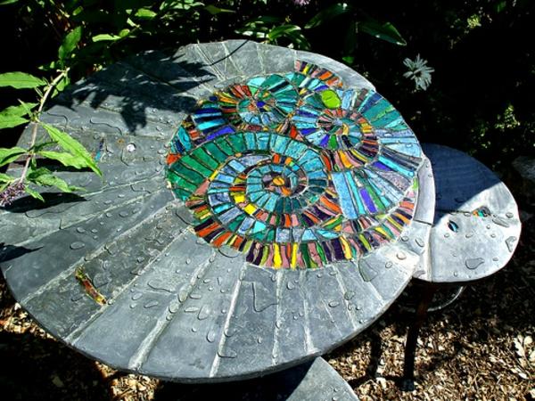 Gartentisch aus mosaik 30 super modelle for Mosaikbilder selber machen