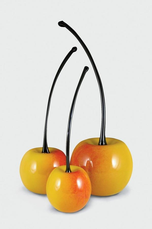 gelbe-Kirschen-Künstliches-Obst-schöne-Idee