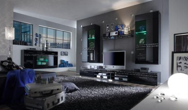 uncategorized : kühles wohnzimmer ideen schwarz weiss grau mit ...