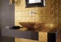 Einrichten mit Farben: Goldene Wandfarbe und Möbel für Luxus!