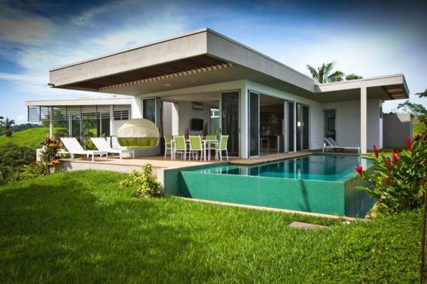 Moderne häuser mit innenpool  Haus mit Garten- erstaunliche Fotos - Archzine.net