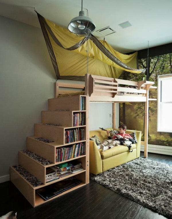 Kinderhochbett treppe  Hochbett mit Treppe - tolle Vorschläge - Archzine.net