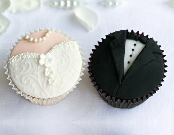 originelle-hochzeits-cupcakes-braut-und-bräutigam-neu