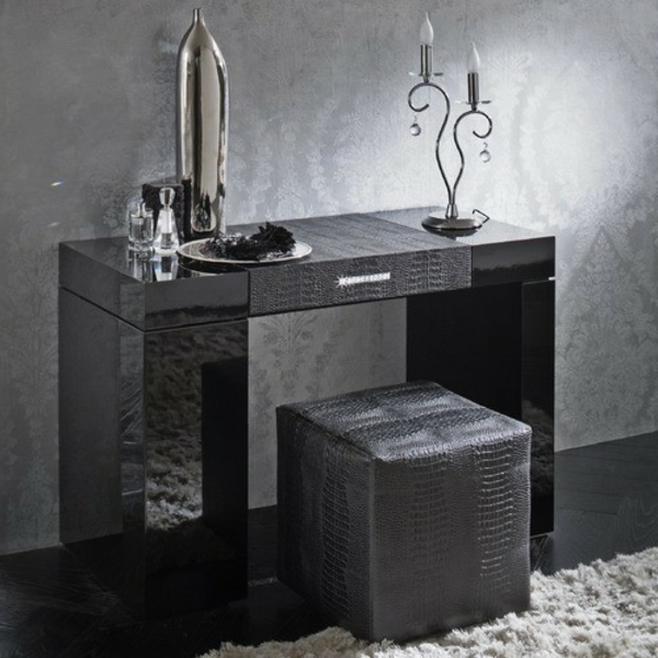 schminktisch in schwarz ideen. Black Bedroom Furniture Sets. Home Design Ideas