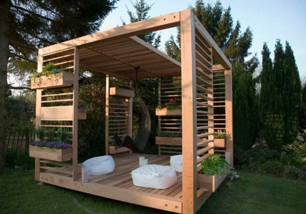 gartenpavillon holz selbstbau. Black Bedroom Furniture Sets. Home Design Ideas