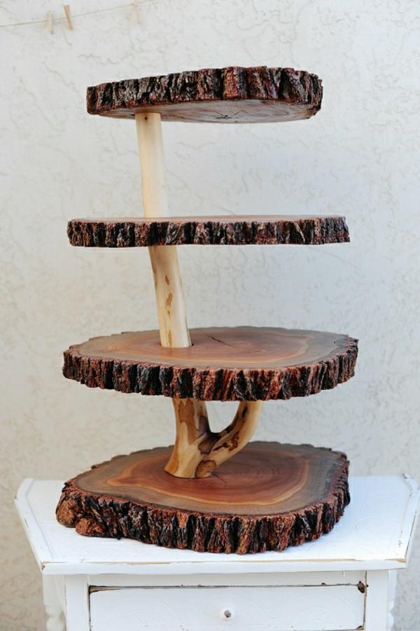Holzstamm deko f r ihr zuhause for Zimmer deko cupcake