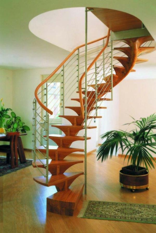 Platzsparende Treppen-für-kleine-wohnung-spiral