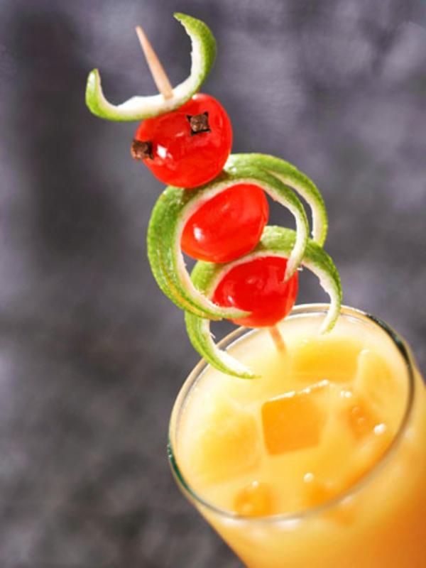 ideen-für-dekoration-cocktails-kirschen