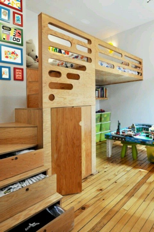 hochbett mit treppe tolle vorschl ge. Black Bedroom Furniture Sets. Home Design Ideas