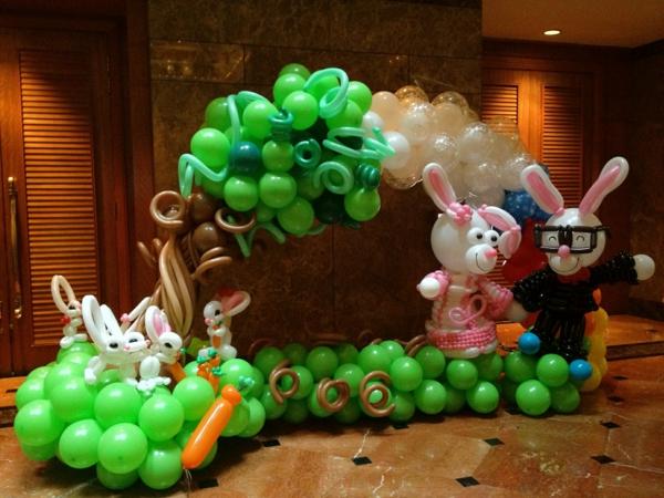 interessante-idee-für-ballon-deko- hasen figuren