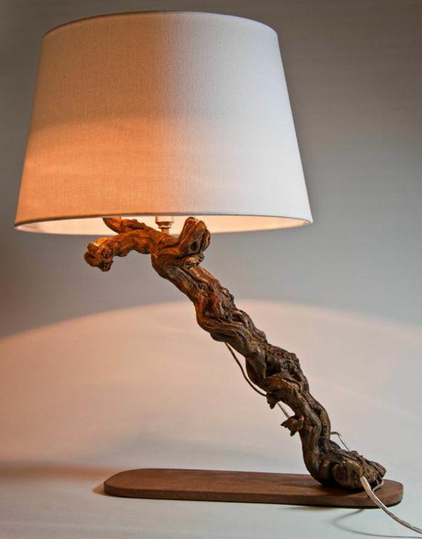 einzigartige -Tischlampe-Treibholz-Deko
