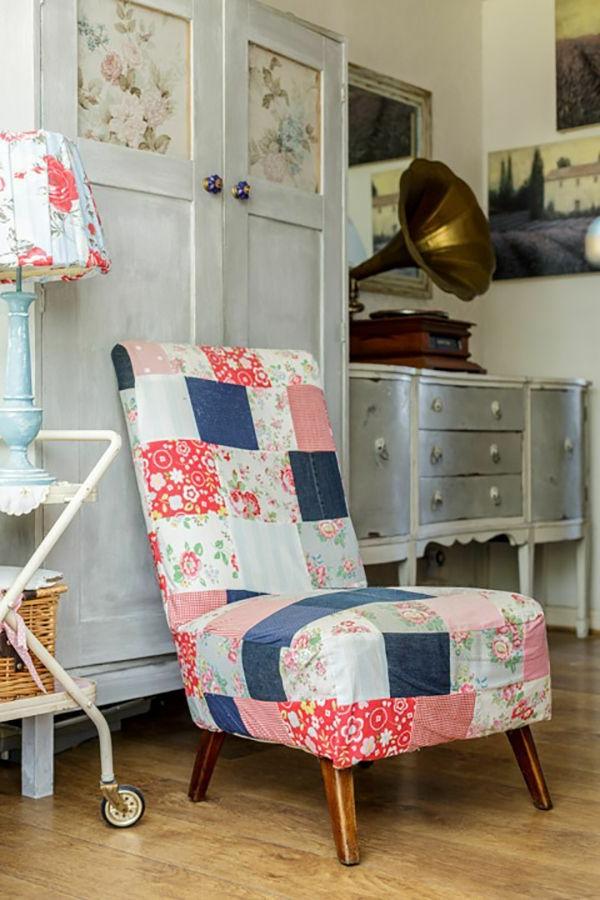 interessanter-Sessel-Patchwork-zu-Hause