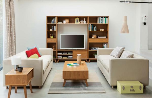 nordische mode bei der einrichtung- super wohnzimmer