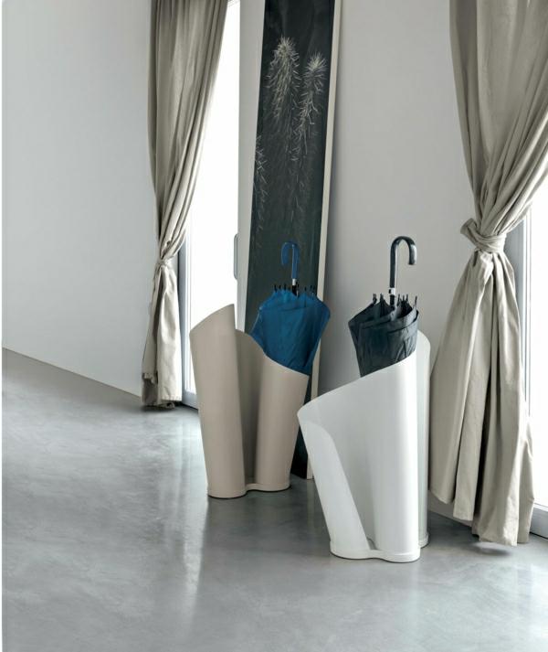 italienische-Designer-Regenschirm-Ständer-Design-Weiß
