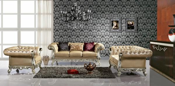 Italienische wohnzimmer 52 prima interieur ideen for Goldene tapete wohnzimmer