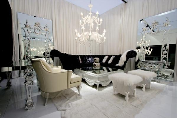 modernes wohnzimmer mit luxus trennwand kamin sehr schick 42. modern ...