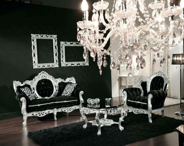 italienische-wohnzimmer-kristallleuchter