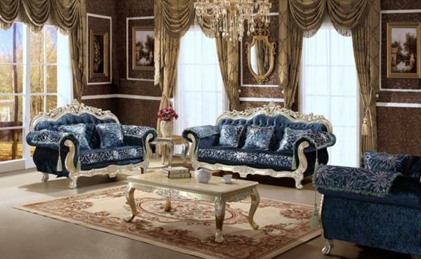 Italienische wohnzimmer 52 prima interieur ideen - Gardinen barock ...