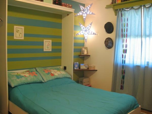 Jugendzimmer mit schrankbett sehen cool aus - Wandgestaltung jugendzimmer ...