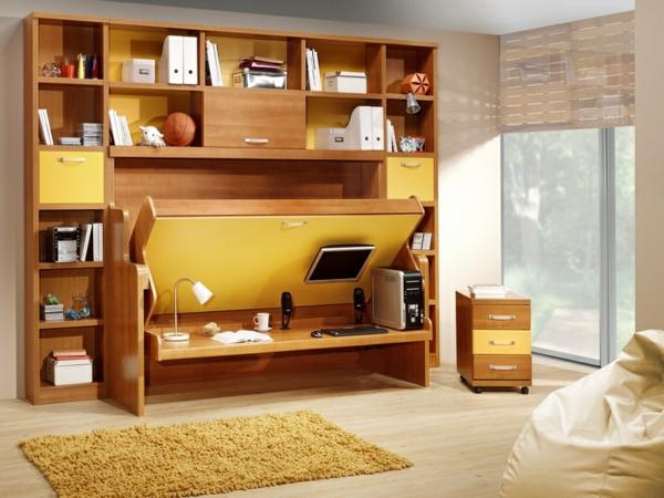 Jugendzimmer mit Schrankbett sehen cool aus!