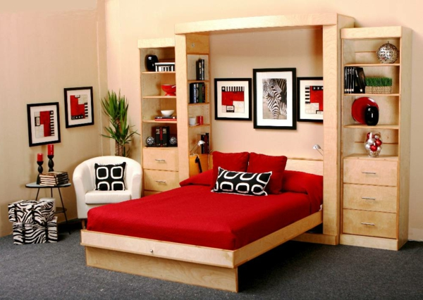 jugendzimmer mit schrankbett sehen cool aus. Black Bedroom Furniture Sets. Home Design Ideas
