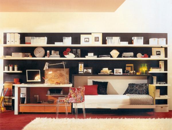jugendzimmer mit schrankbett interior design und m bel ideen. Black Bedroom Furniture Sets. Home Design Ideas