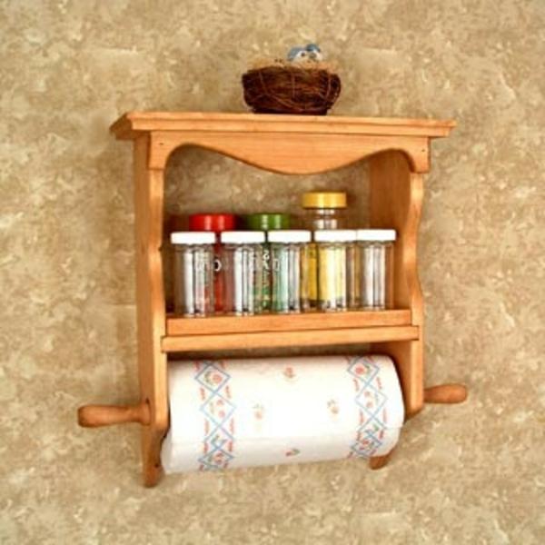 küchenrollenhalter-für-wand-hölzernes-modell
