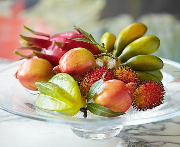 künstliche-exotische-Früchte-Dekoideen-für-den-Tisch