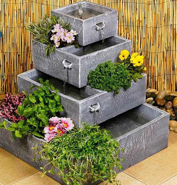 kaskadenbrunnen-gartengestaltungsidee-hübsche-idee