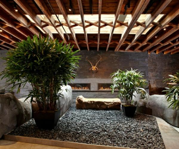 kies-dekoration-für-innenraum- mit vielen grünen pflanzen