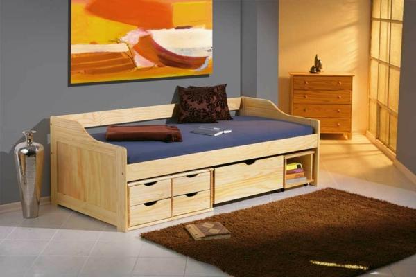 kinderbett-maxima-90-x-200-kiefer-massiv-natur-lackiert-mit-schubladen- brauner teppich