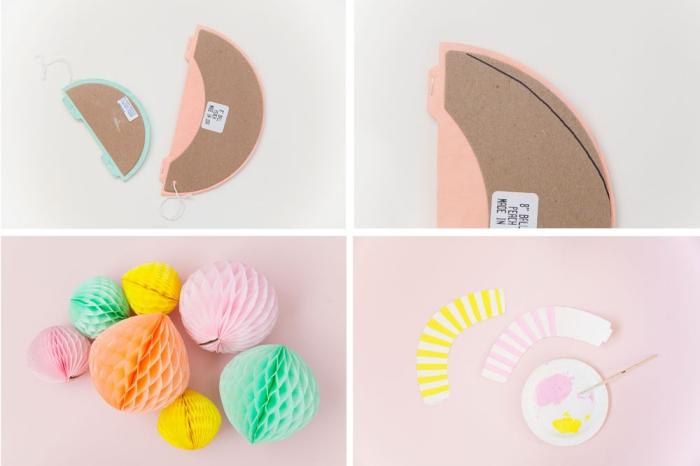 kindergeburtstag deko badteln, cupcakes aus wabenbällchen, schritt für schritt anleitung