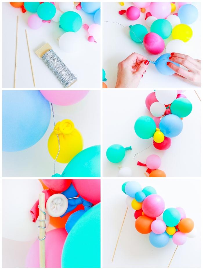 kindergeburtstag deko ideen, kids party world dekoration zum selbermachen, diy anelitung